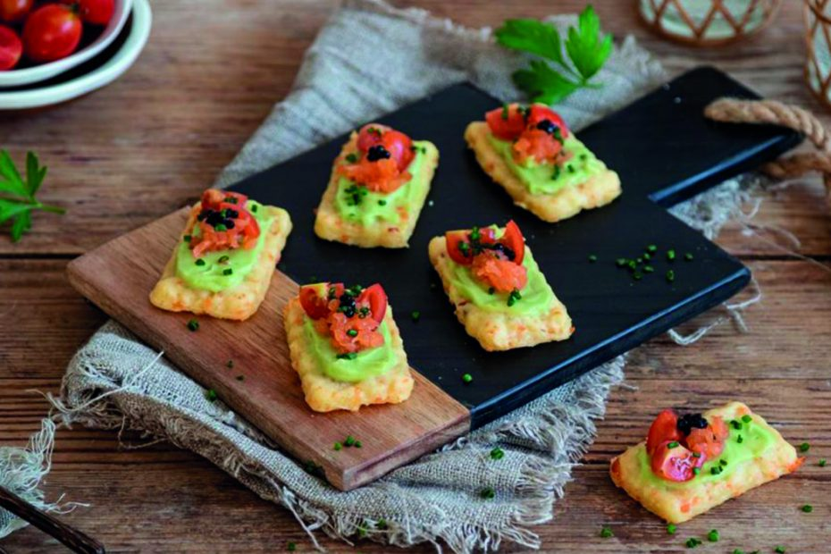 Canapes de aguacate