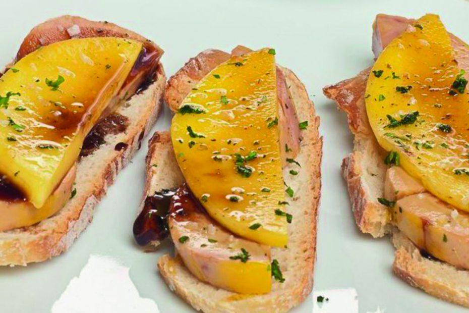 Tosta foie mango
